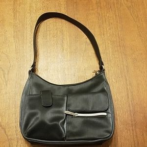 Bags - 👸👜  Black Vinyl Satchel Purse